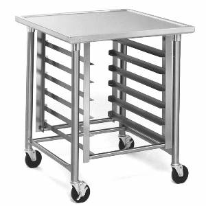 Eagle Group Commercial Stainless 30x30 Mobile Mixer Stand w/ 6 Pan Rack - MMT3030G