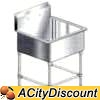 PS1-2424 1 Compartment Sink Aero Stainless Steel 24in x 24in bin