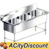 PS3-2116 Aero S/s Commercial 3 compartment Sink 21in x 16in bins
