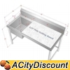 Customized Stainless Steel Sink & Poly Top Cutting Table
