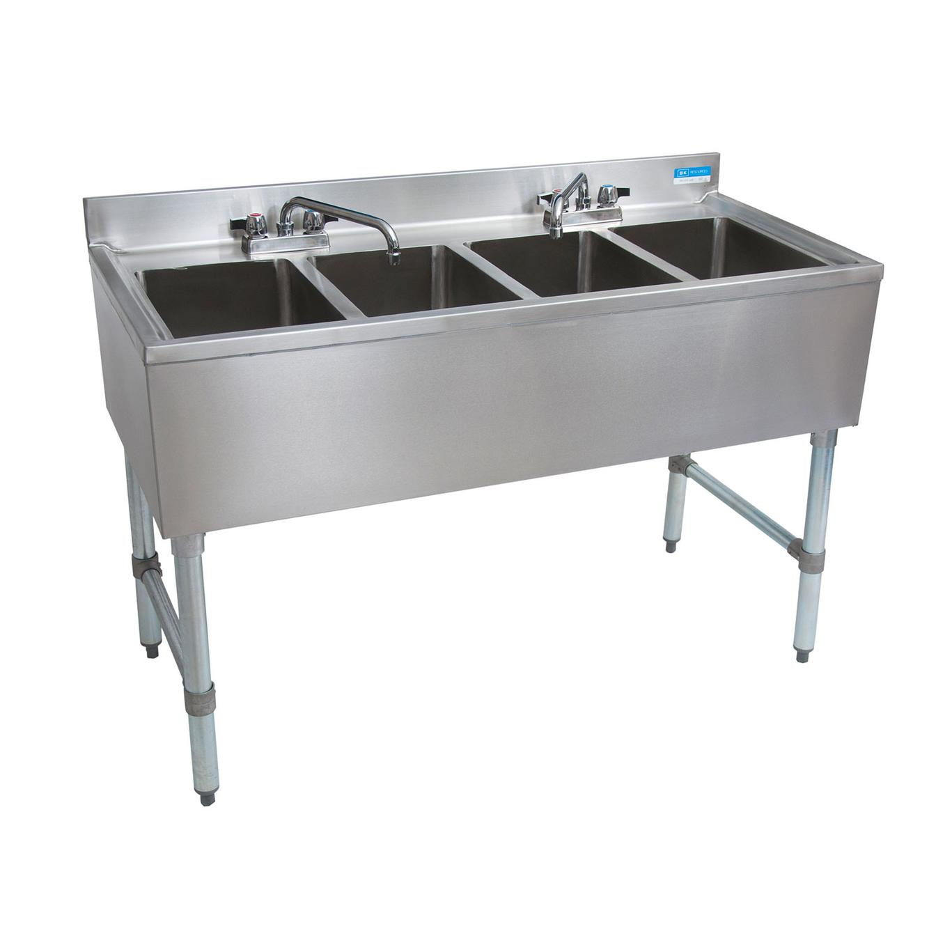 Bk Resources Bkubs 448s 48 W Four Compartment Stainless