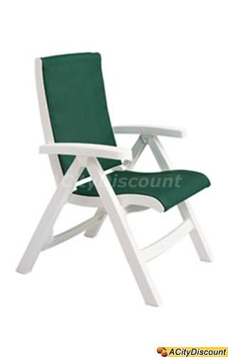 Grosfillex 2ea Jersey Midback Folding Patio Sling Chair