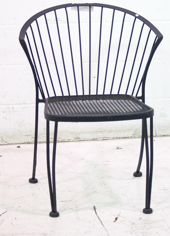 used outdoor dining patio seating black metal chair sku 153512 sold. Black Bedroom Furniture Sets. Home Design Ideas