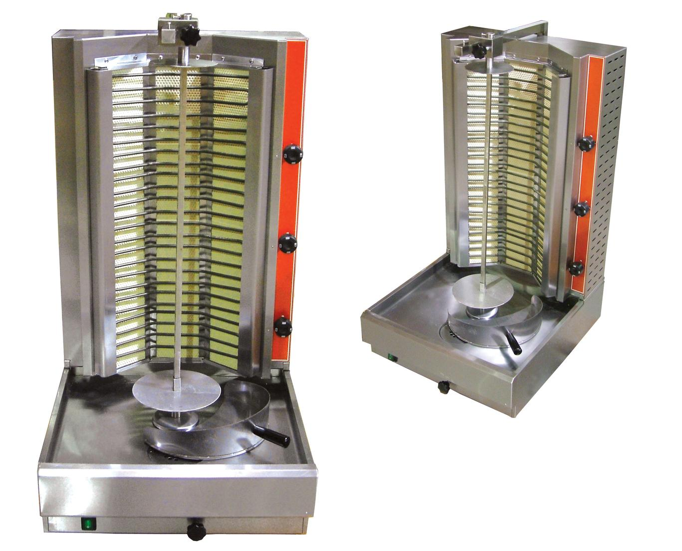 Vertical Gyro Shawarma Broiler Stainless Steel Sub