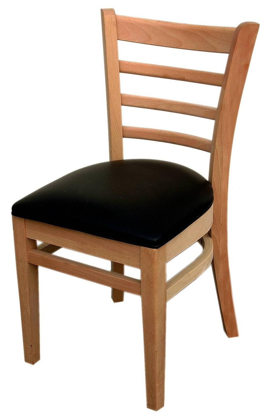 All About Furniture WC822 BL Wood Ladder Back Dining Chair