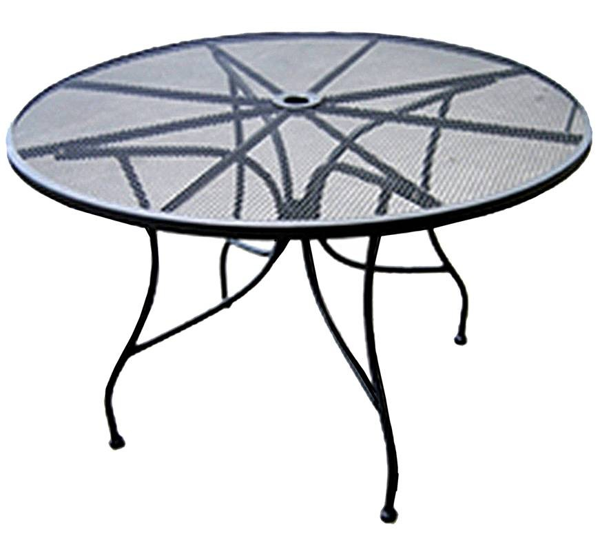 All About Furniture Omt48 48 Round Outdoor Restaurant Patio Table Mesh Steel Top