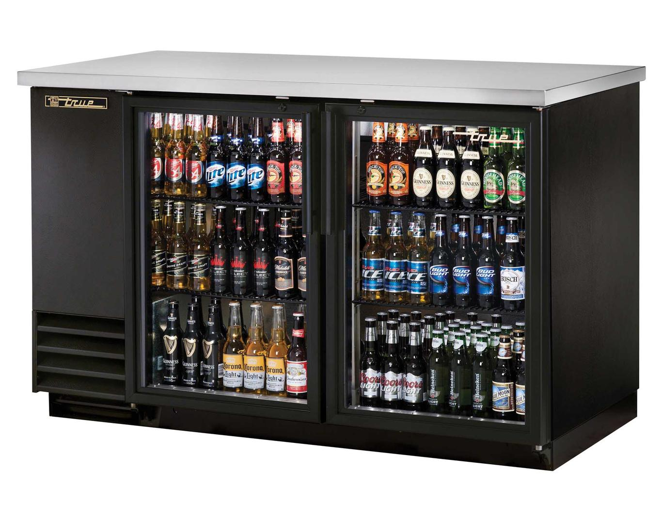 True Tbb 2g Hc Ld 37in High Two Section Back Bar Cooler