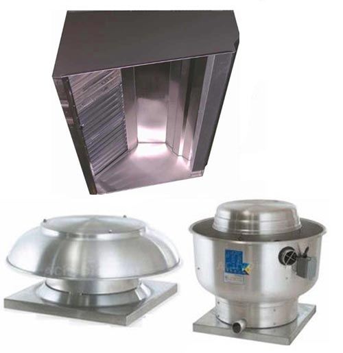 Kitchen Exhaust Systems: Superior Hoods S9HP 9ft Restaurant Hood System W/ Make-Up