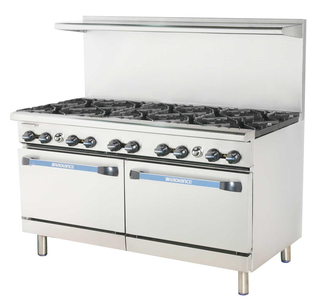 Radiance Tar 10 60 Quot Restaurant Gas Range W 10 Burners And