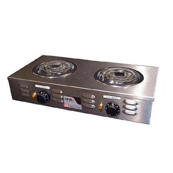apw wyott cp 2a champion 25 portable electric hot plate s s with 2 burners. Black Bedroom Furniture Sets. Home Design Ideas