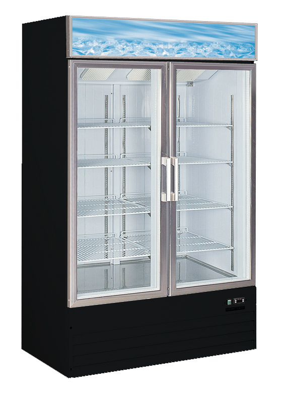 Alamo Refrigeration D768bmf 25 Cuft Glass Two Door Freezer