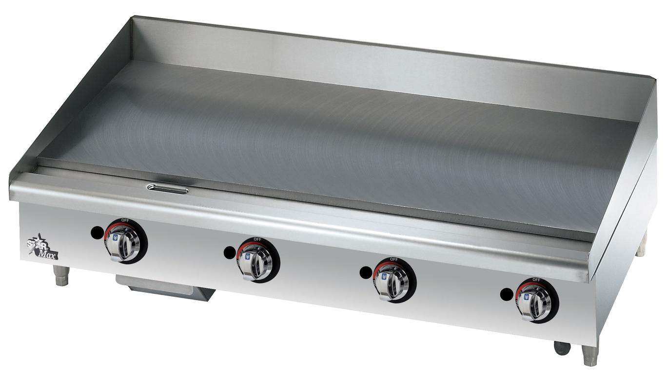 Commercial Flat Griddle Grill ~ Star mf max countertop in manual gas griddle