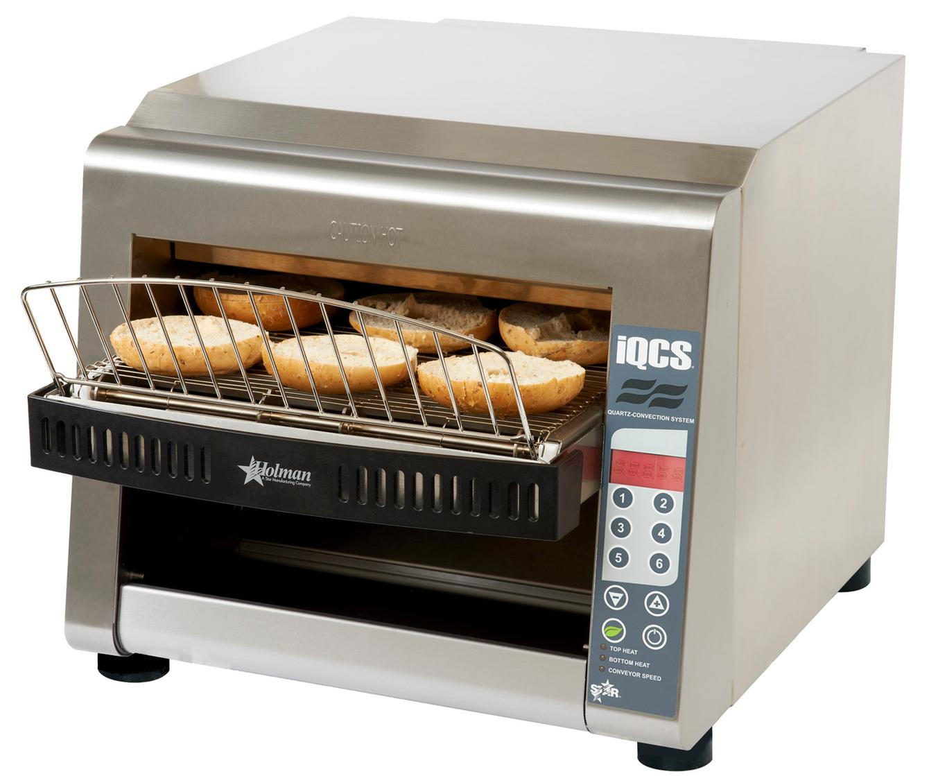 Electric Conveyor Toaster ~ Star iqcse b quot wide holman stainless steel electric