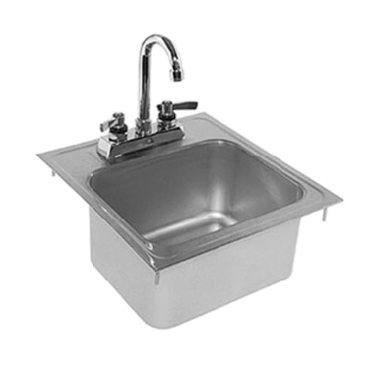 Glastender Di Hs14 14 Quot W X 15 Quot D Deck Mounted Drop In Sink