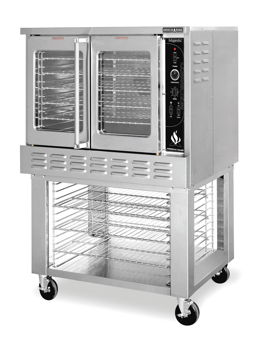 Restaurant Kitchen Oven used dual stacked commercial electric convection oven - southbend
