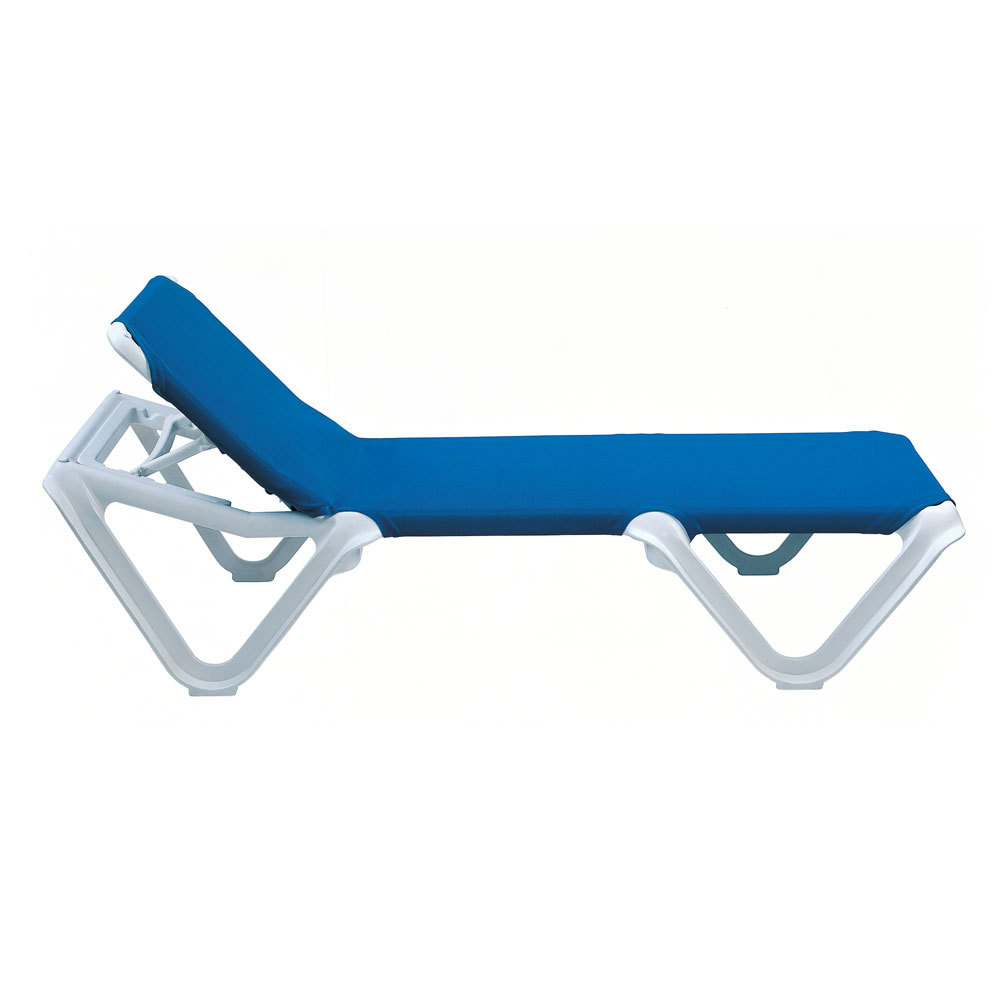Grosfillex 2ea nautical outdoor patio sling chaise lounge color options - Grosfillex chaise longue ...
