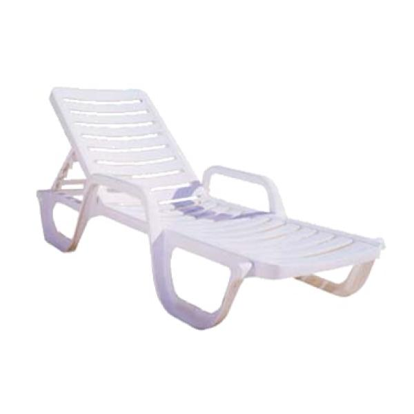 Grosfillex 6ea bahia outdoor patio chaise lounge white - Grosfillex chaise longue ...