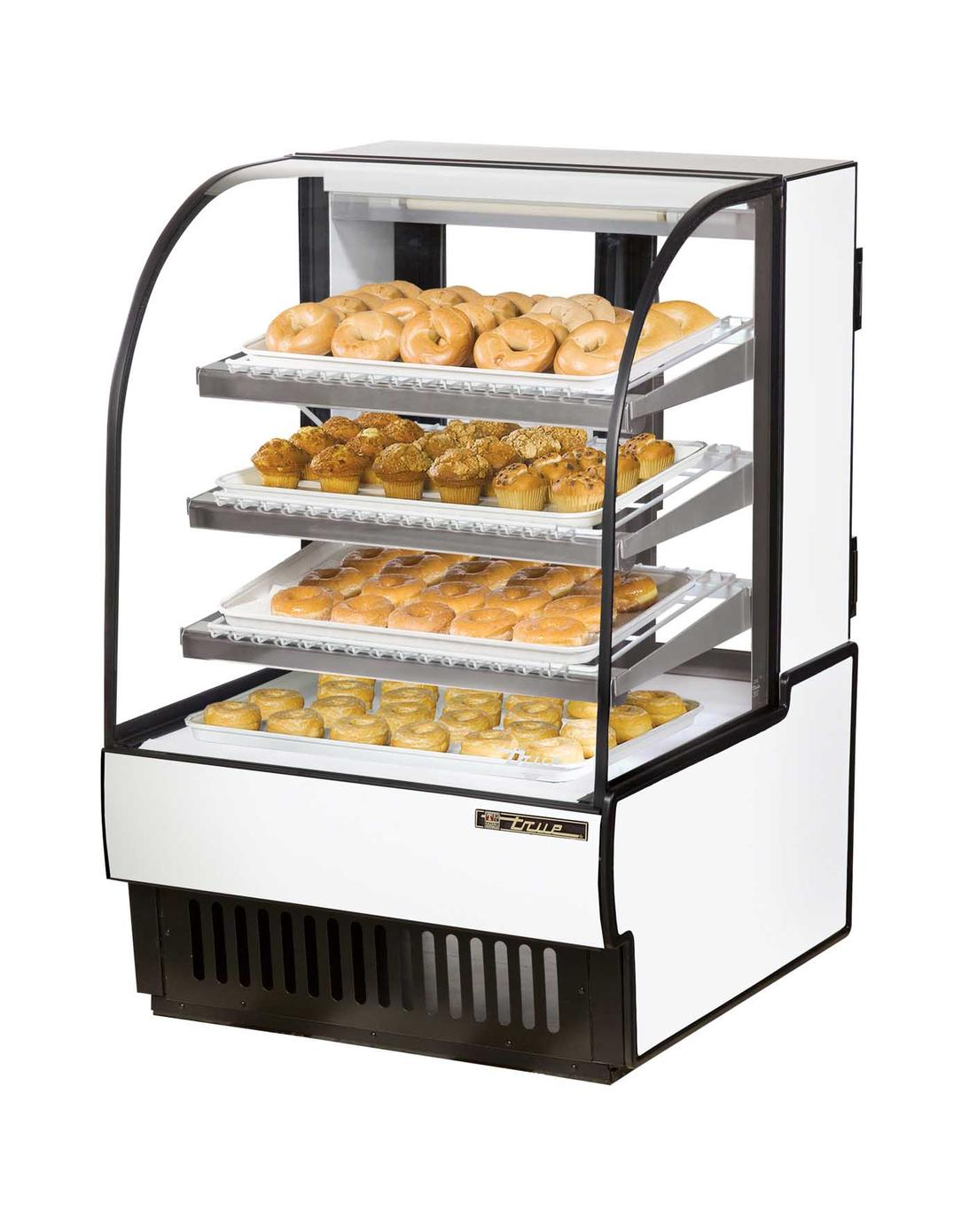 True Tcgd 31 31in Curved Glass Non Refrigerated Dry Bakery
