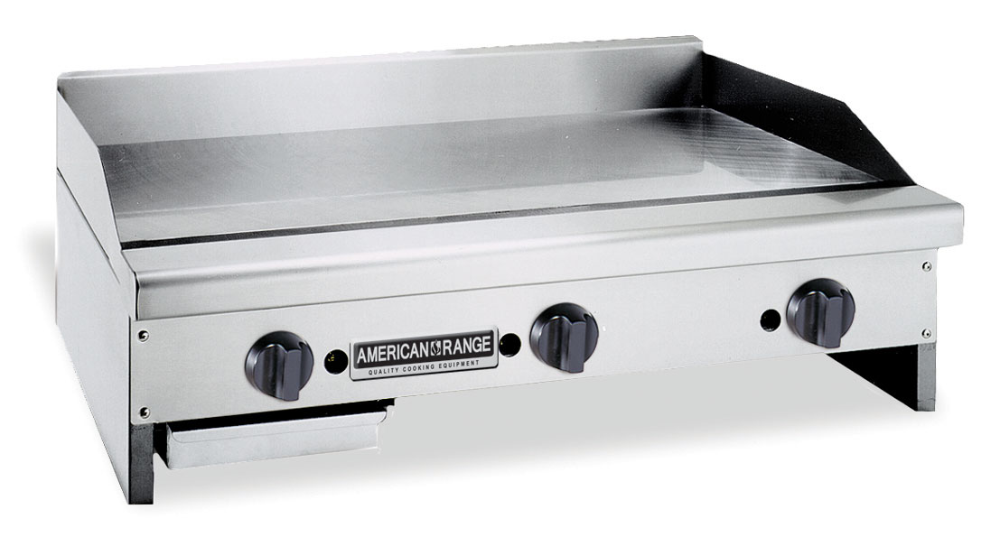 Commercial Flat Griddle Grill ~ American range armg in manual commercial gas flat griddle
